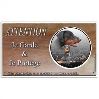 plaque de garde et texte de loi chien dangereux